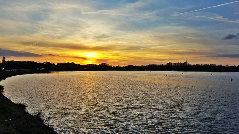 Shot galaxy s6 grand large belgium Sunset Sky Nature Beauty In Nature Outdoors No People Day Water