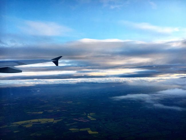 Flying High Airplane Cloud - Sky Sky Transportation Journey Nature Mode Of Transport Cloudscape Travel Beauty In Nature Airplane Wing Flying Air Vehicle Aerial View Landscape_Collection Plane Aircraft Travel Photography High InTheSky Plane View Sky And Clouds Outdoors (null)Tranquility