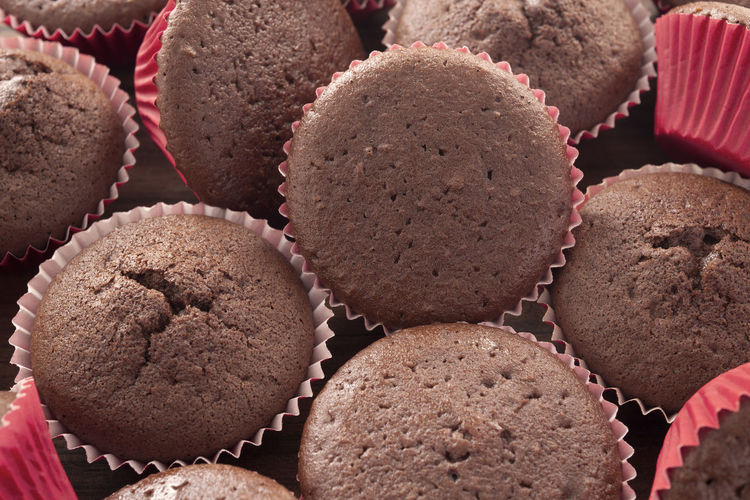 Close-up of chocolate chip muffins