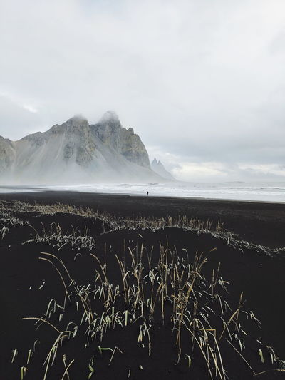 Horn (Find me on IG @noeldxng) Sea Beach Water Nature Beauty In Nature Landscape Mountain Volcanic Landscape Scenics Cold Temperature Travel Destinations Fog Outdoors Travel The Week On EyeEm Winter Iceland Lost In The Landscape Connected By Travel Beauty In Nature Tranquility Perspectives On Nature A New Beginning