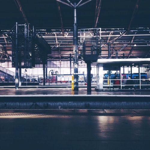 Lines Public Transportation Traveling Train Station Light And Shadow Symmetry Train Platform