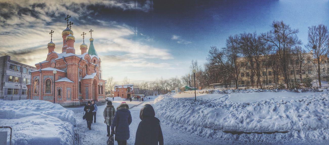 Дорога к Храму Православное Рождество Хабаровск