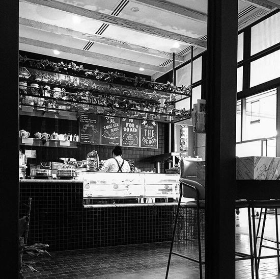 Indoors  Cafe Working Food Architecture Streetphotography Photo Photography Photooftheday Bnw_collection Bnw Blackandwhite Monochrome Grayscale