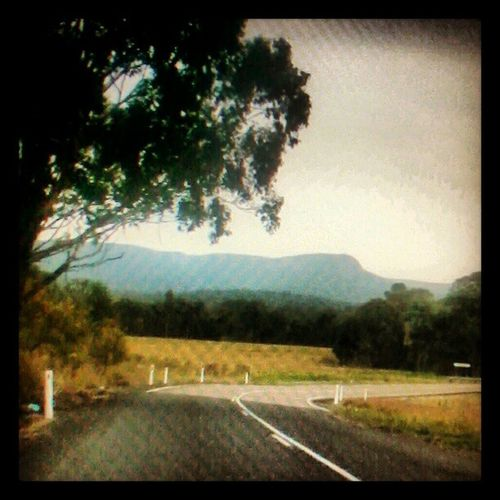 In the distance Fog Watagan Mountains Road It's Raining Are We There Yet?  Hhhh