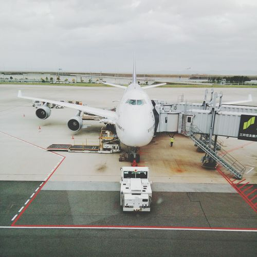 Airplane Commercial Airplane Airport Runway Aerospace Industry Air Vehicle Airport Passenger Boarding Bridge Travel