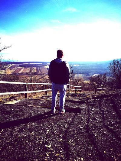 Sky Mountain Mountain View Mountains And Sky Boyfriend Beauty Enjoying Life Sunset No People Landscape Far Beautiful Nature Happiness Endlessness Hegyestű Trees Stairway To Heaven One Person Only Men Nature Real People One Man Only Men Rear View Full Length