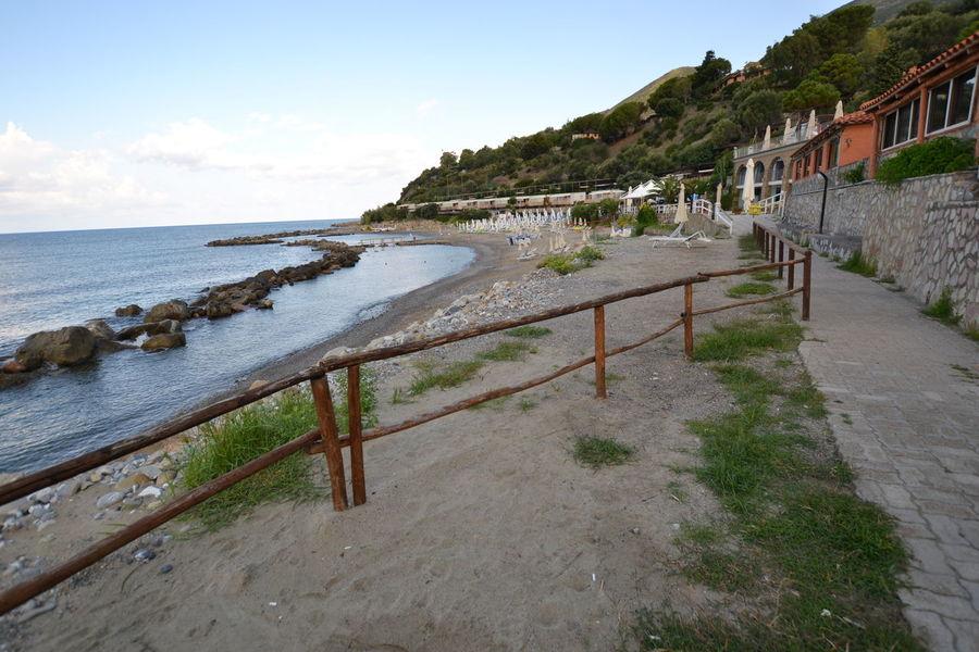 Italy: Cilento landscape No People Sun Relaxing Water Italy Beach Hut Coastal Feature Seascape Coast Rocky Coastline Horizon Over Water Coastline Bay Of Water