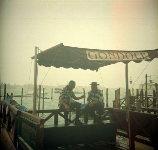 Analogue Photography Film Gondola Venezia Film Photography Gondolier Mist Venice