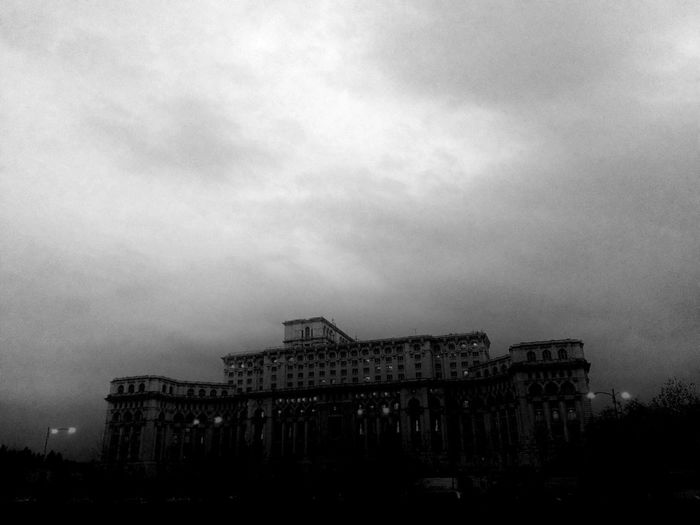 Bucharest House Of Parliament House Of People Center Downtown Romania Communism Architecture