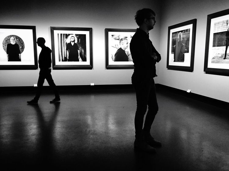 Exhibition Fantastic Exhibition At An Exhibition Photography Anton Corbijn People Watching People Photography Blackandwhite Black And White Black & White