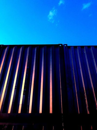 Contener Blue Sky No People Low Angle View Day Adventures In The City Metal Close-up