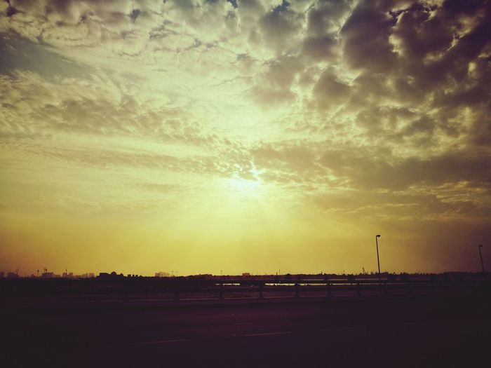 Sunset Tranquility Dramatic Sky Sky Outdoors No People Cloud - Sky Beauty In Nature Nature Day Sun Happiness♥ Dubai❤ Mobilephotography Huawei P9 Leica Huaweiphotography Loveforphotography My Dubai TimepassPhotography Freshness Happiness Nature