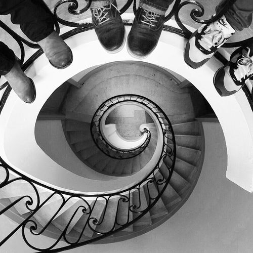 Look down ! Bordeaux Stairs Spiral Staircase Architecture Architecture_bw Blackandwhite Black & White Lookdown