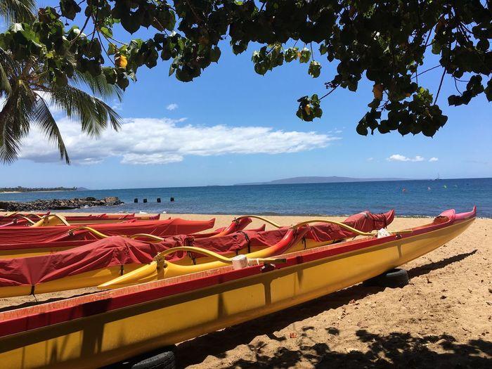 Boats On Maui Beach