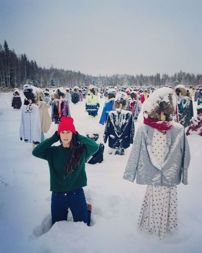 I will never walk Alone❤️ Reijo Kela Finland Suomi Lapland Winter Snow Cold Temperature Warm Clothing Clothing Real People Sky Nature Knit Hat Extreme Weather My Best Photo