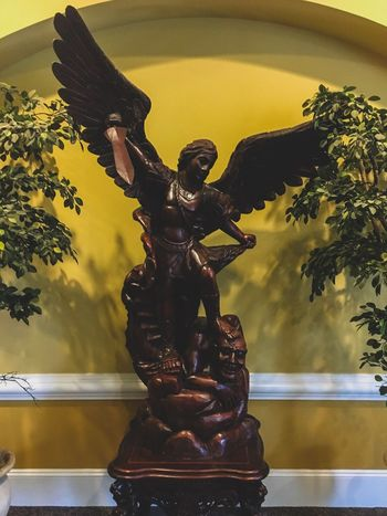 St. Michael the angel EyeEm Selects Sculpture Art And Craft Representation Human Representation Statue Male Likeness Architecture Indoors  No People Creativity Religion Female Likeness Belief Plant Craft Spirituality Nature