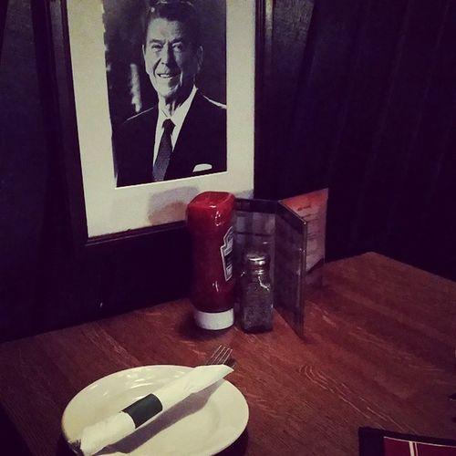 Ronald Reagan watches you eat