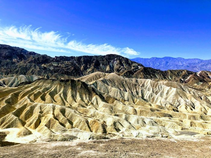 Zabriskie Point, Death Valley Sky Land Nature Tranquility Tranquil Scene Landscape Day Scenics - Nature Beauty In Nature