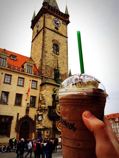 Praha Starbucks Frappiccino Travel