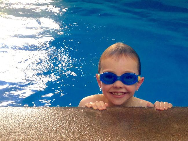 Relaxing Enjoying Life Everyday Life Robyn Haworth Youth Of Today Happy Boy Smile Expression Child Childhood Children Pool Swimming Swimming Pool Goggles Water Blue Blue Water