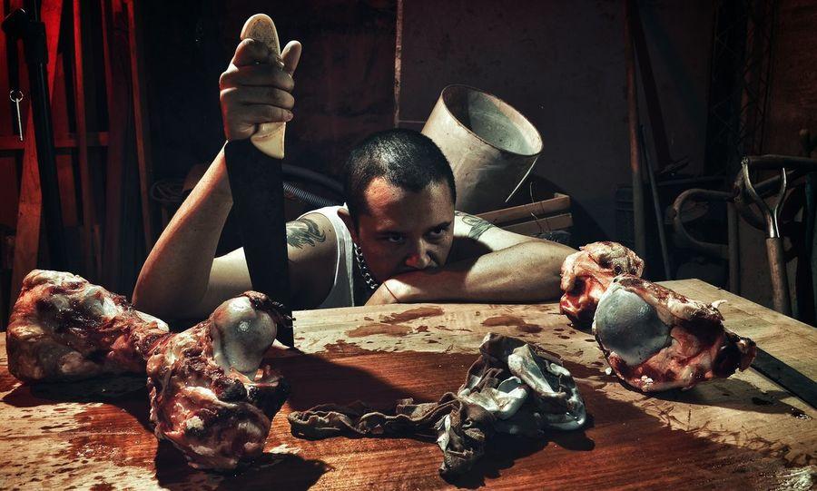 Blood Butcher Dark Horror Horror Photography Killer Portrait
