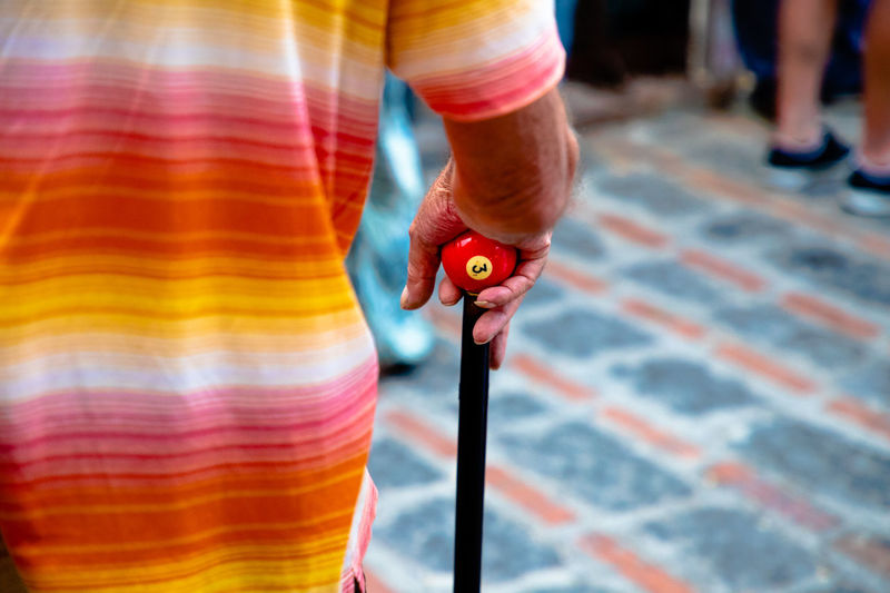 One Person Focus On Foreground Holding Standing Real People Midsection Human Body Part Arts Culture And Entertainment Casual Clothing Men Street Stage Multi Colored Savoca Savoca, Sicily Padrino Sicily Isola Travel Photoviaggiando