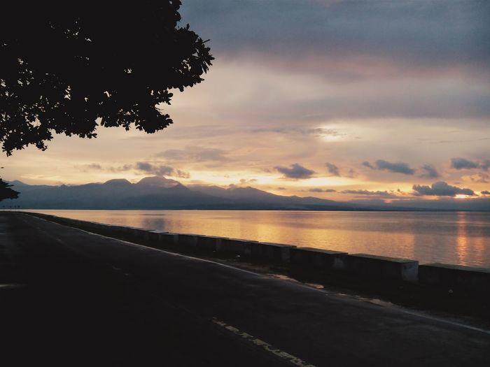 Sunset earlier.
