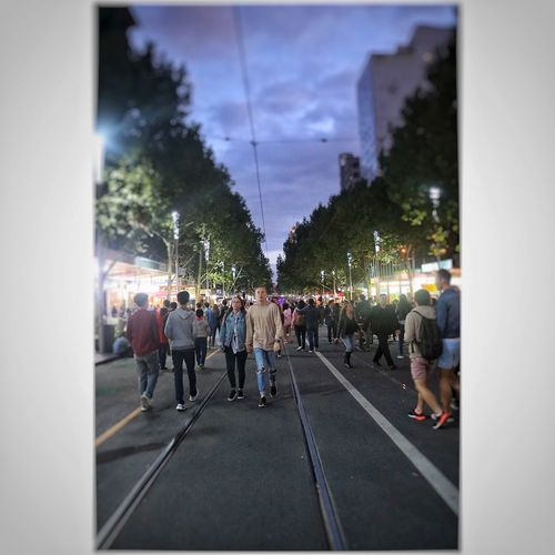 MelbournePhotographer Melbourne City Whitenightmelbourne Crowded Love
