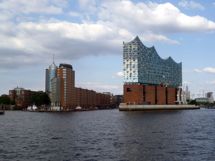 Elphi Philharmonic Hall, Hamburg (D): horizontal panoramic view. Elbe Philharmonic Hall Elphi Hamburg, Germany Hamburger Hafen Modern Architecture Philharmonic Hall Philharmonie Hamburg Travel Photography Architecture Building Building Exterior City Cloud - Sky Day Elbphilharmonie Modern Outdoors Postcard Photography River Sightseeing In Hamburg Sightseeing Tour Sky Travel Travel And Tourism Water #urbanana: The Urban Playground