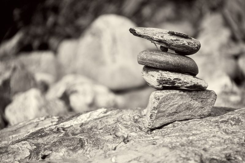 Rocks of solace. Rock Black And White Collection  Black And White Zen Stones Rock - Object Close-up No People Day Outdoors Stack Nature