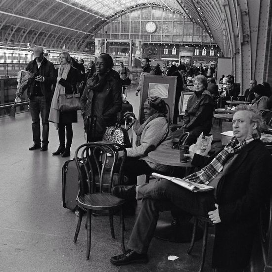 Waiting King's Cross, St Pancras International Streetphotography