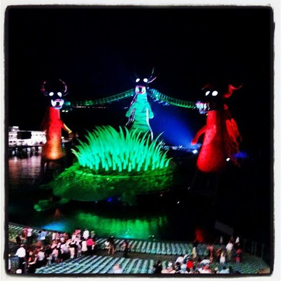 Pic From  Bregenz Festspiele sea stage amazing colors green red blue flash oper zauberflöte amazing night instagood instamazing peace water fantastic austria real nice show