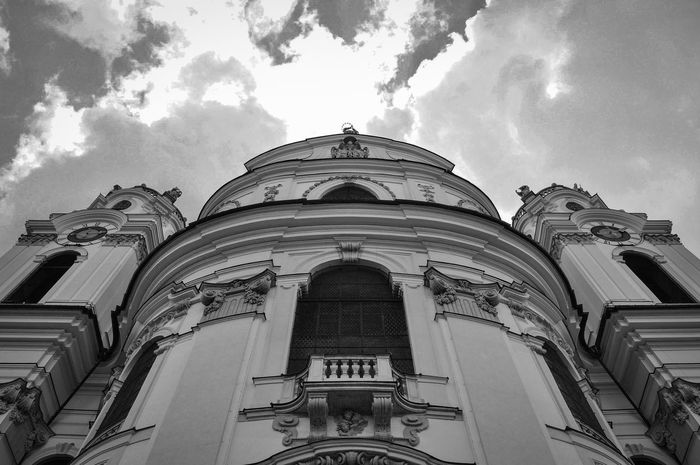 Basilica Cathedral Great Views Architecture Blackandwhite Building Exterior Built Structure Cloud - Sky Clouds And Sky Day Low Angle View No People Outdoors Sky