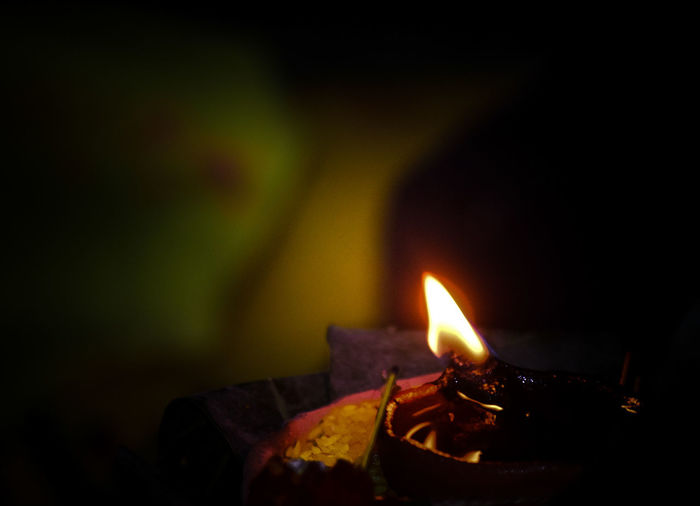 Diya - Oil Lamp Oil Lamp Diwali Flame Heat - Temperature Illuminated Burning Cultures Glowing Close-up Blooming Petal Traditional Festival Holi Candlelight