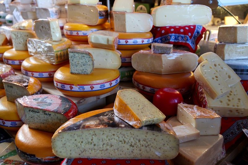 Cheeses of Holland. Variation Large Group Of Objects Food And Drink No People Choice Multi Colored Close-up Ready-to-eat Market For Sale Food Travel Cheese