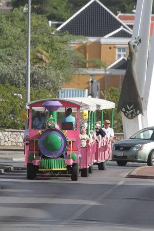 City Fun Ride Outdoors Pink Train Public Transport Roadtrain Sightseeing Summer Tourism Train Train On Wheels Vacation