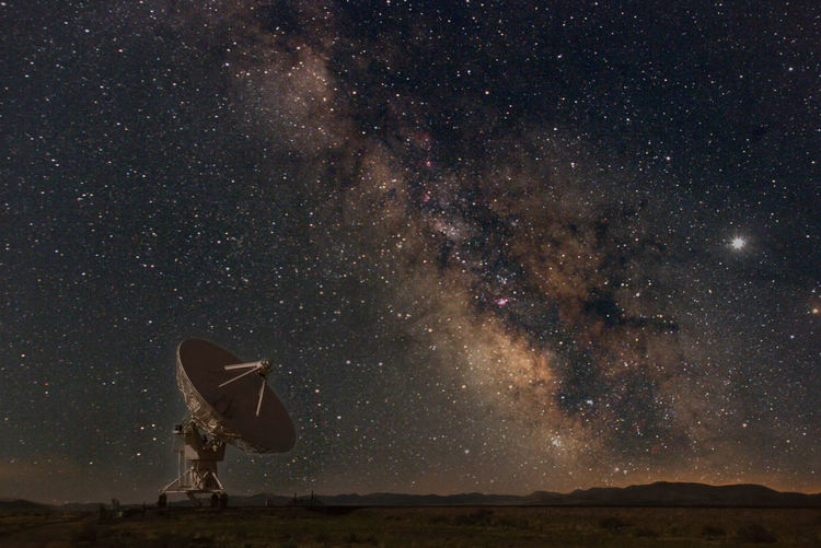 Very Large Array VLA with Milky Way Very Large Array, New Mexico Astronomy Astronomy Telescope Beauty In Nature Constellation Galaxy Milky Way Milky Way Galaxy Nature Night No People Outdoors Scenics Science Sky Space Space Exploration Star - Space Vla