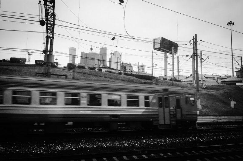 Leaving Moscow РЖД Train Киевский Вокзал Москва Moscow Rail Transportation Train Public Transportation Transportation Mode Of Transportation Railroad Track Electricity  Track Travel