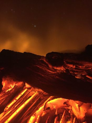 Fire Fireplace Copyspace Fake Fireplace Nature Geology Beauty In Nature Night Lava Physical Geography Erupting Outdoors Heat - Temperature Power In Nature Scenics No People Molten Mountain