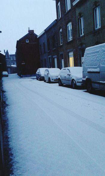 Early Morning Week End Liège Snow Belgium Happy Little Moments