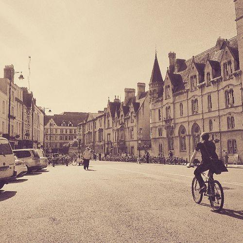 Classic Oxford photo Cyclist Balliol