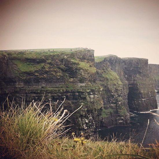 Cliffs Ireland High Atlantic Water Bluesky Ocean Rocks Ledge Fearlessness Edge AtWorldsEnd @lauravhenry Clouds Irish Ireland