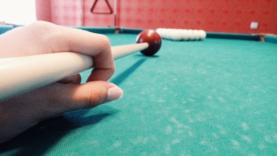 Human Hand Sport Human Body Part Indoors  Leisure Activity Pool Table Pool Ball Close-up People Pool - Cue Sport Leisure Games Lifestyles One Person Adult Adults Only Day Snooker Pool Cue Game игра удар шар бильярд Business Stories
