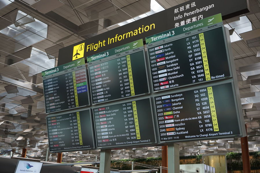 Changi International Airport Airport Arrival Arrival Departure Board Indoors  No People Time Travel Vacations