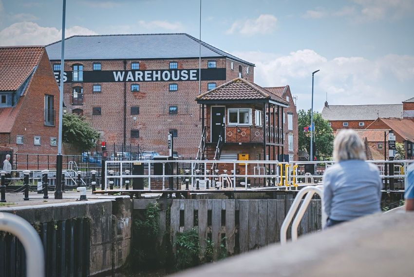 Market Town Newark-on-Trent Newark River Trent Architecture Day Outdoors View Lock Boats Sitting Sunshine