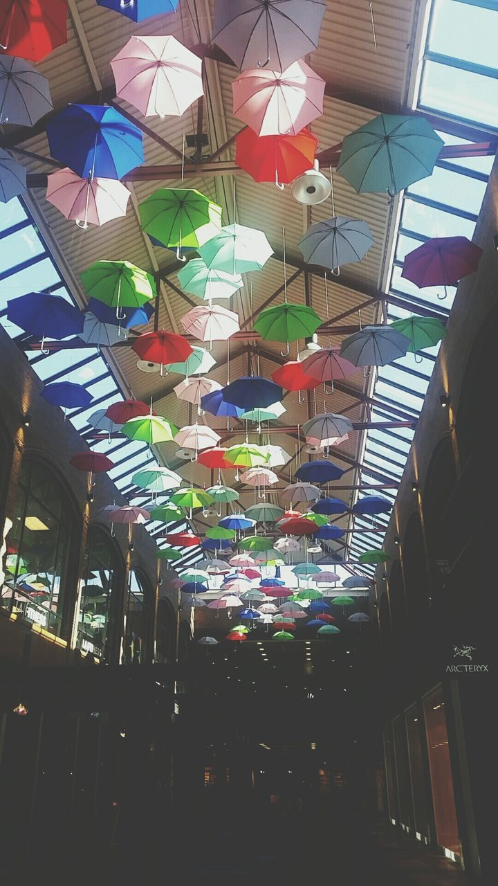 multi colored, variation, low angle view, retail, choice, market, day, hanging, no people, indoors