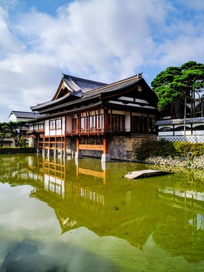 Architecture Water Built Structure Floating On Water Tradition Building Exterior Tourism River Day Travel Destinations Outdoors No People Nature Sky Nagano, Japan Nagano Temple Japan Japan Scenery Buddhist Temple