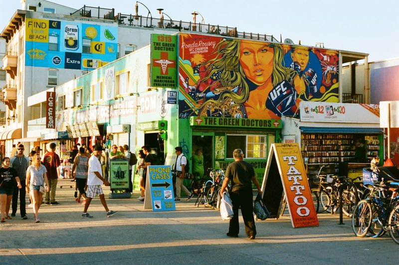 Venice Beach Boardwalk, Venice, CA Boardwalk Venice Beach Mural Hanging Out Outdoors❤ Filmisnotdead Street Photography Views From The Sidewalk Enjoying The Sights Streetphotography From My Point Of View Hello World RondaRousey Colorful Colorsplash Life Is A Beach Outdoors Urban