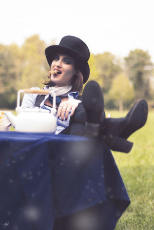 Alice Alice In Wonderland Aliceinwonderland Biscuits Hat Hatter Lifestyles Madhatter My Vision Outdoors Photography Portrait Real People Shooting Tea
