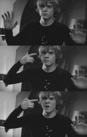American Horror Story Hanging Out Love Tate Langdon
